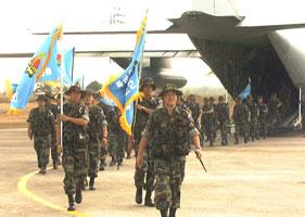 한국군 상록수부대 150여명 동티모르에 파병